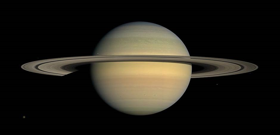 Saturn through the best telescope