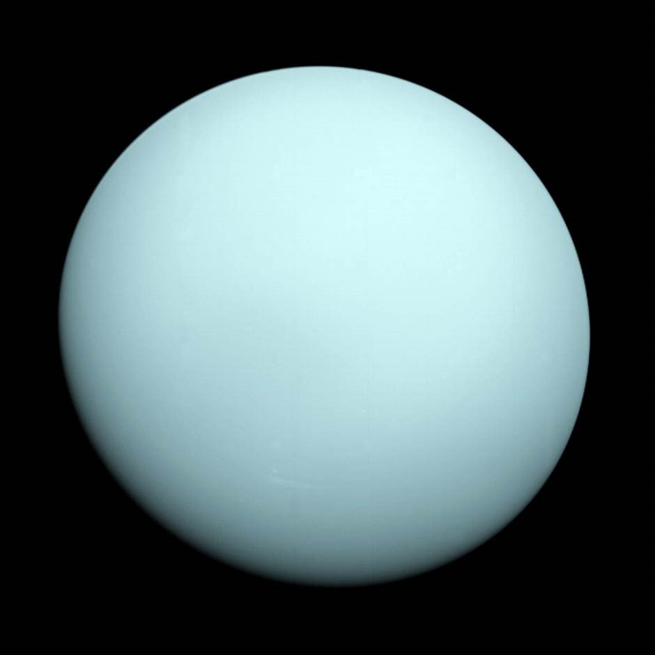Uranus through the best telescope